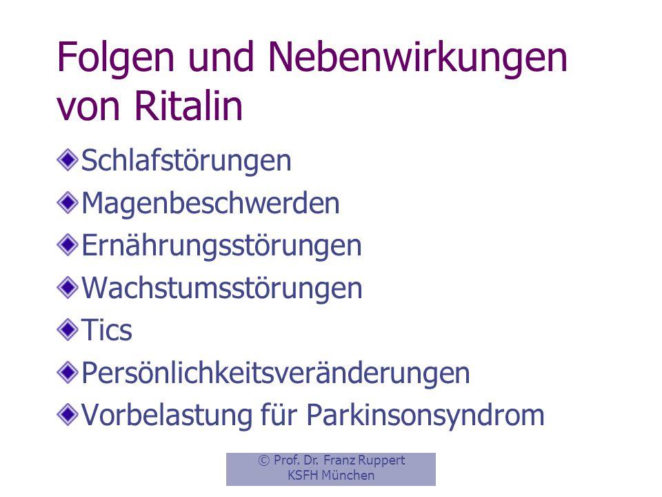 Folgen und Nebenwirkungen von Ritalin