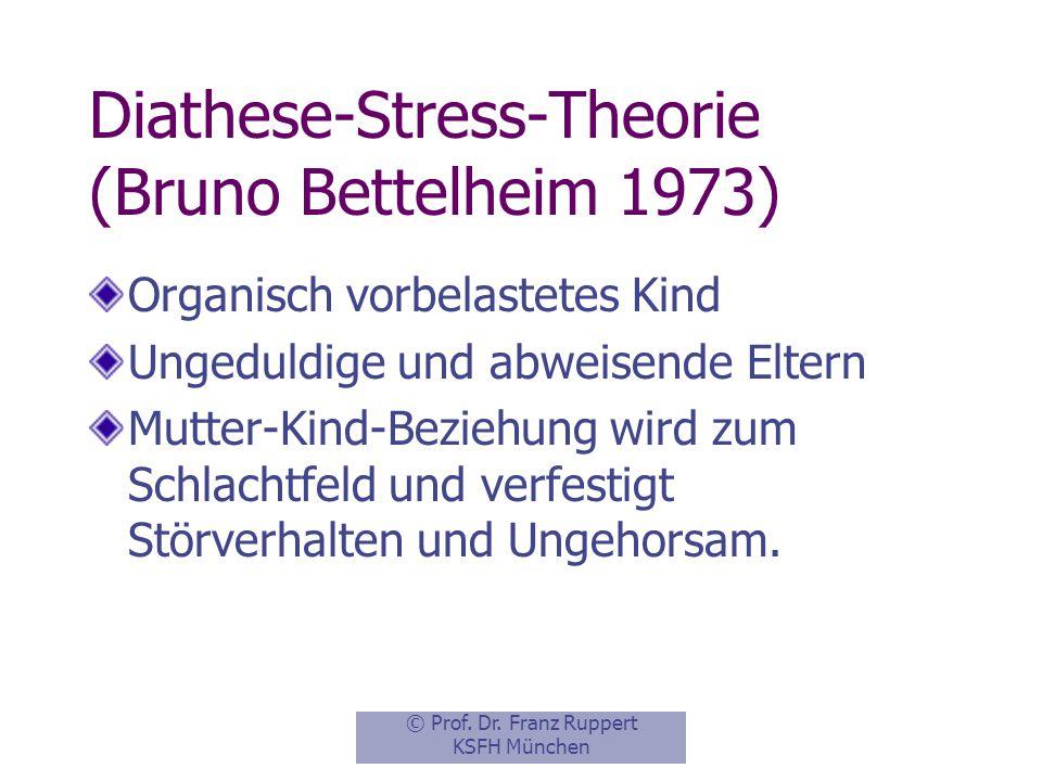 Diathese-Stress-Theorie (Bruno Bettelheim 1973)