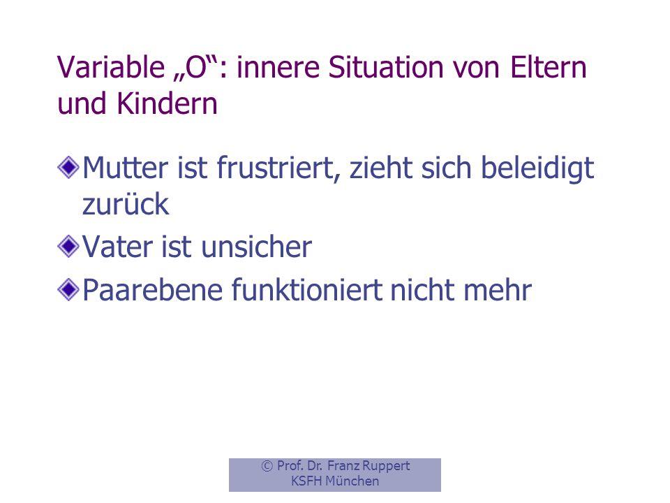 """Variable """"O : innere Situation von Eltern und Kindern"""