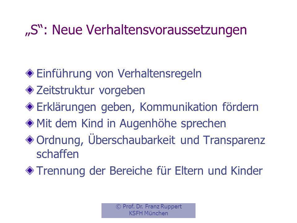 """""""S : Neue Verhaltensvoraussetzungen"""