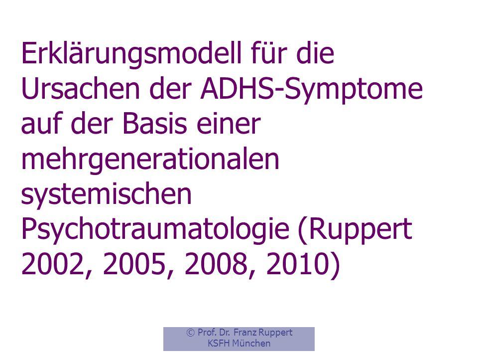 Erklärungsmodell für die Ursachen der ADHS-Symptome auf der Basis einer mehrgenerationalen systemischen Psychotraumatologie (Ruppert 2002, 2005, 2008, 2010)