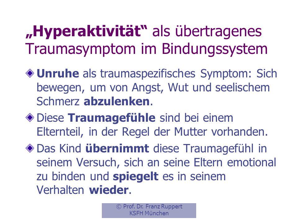 """""""Hyperaktivität als übertragenes Traumasymptom im Bindungssystem"""