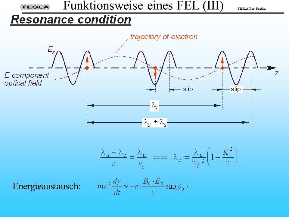 Funktionsweise eines FEL (III)
