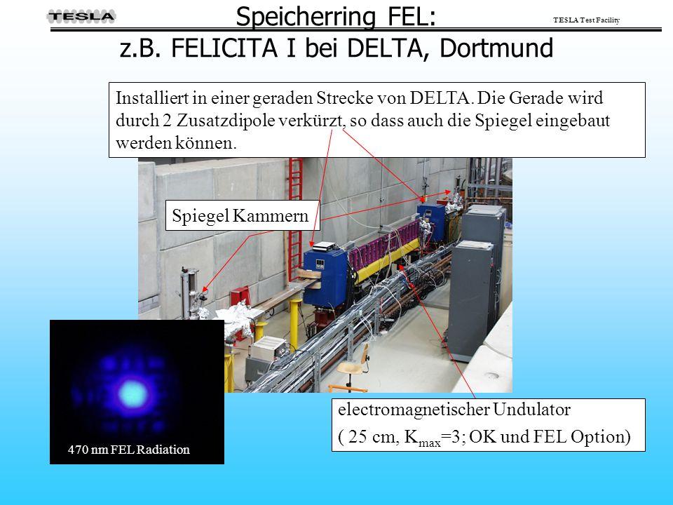 Speicherring FEL: z.B. FELICITA I bei DELTA, Dortmund