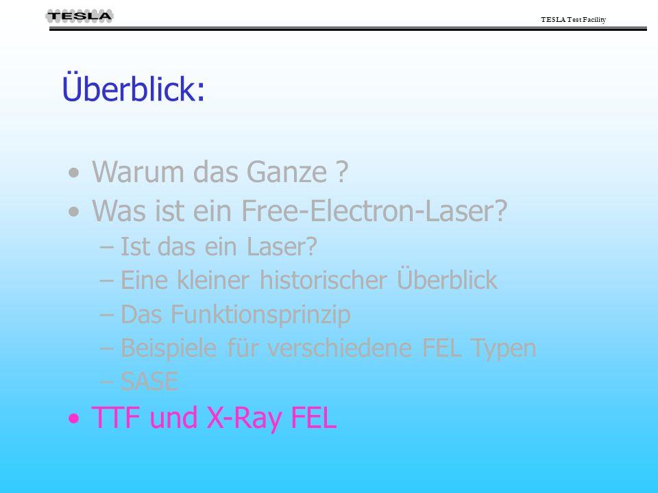 Überblick: Warum das Ganze Was ist ein Free-Electron-Laser