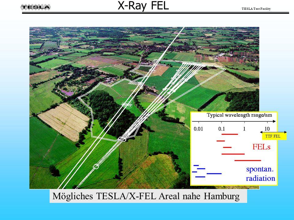 X-Ray FEL TTF FEL Mögliches TESLA/X-FEL Areal nahe Hamburg