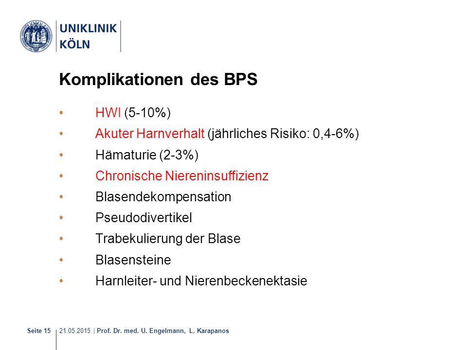 Komplikationen des BPS