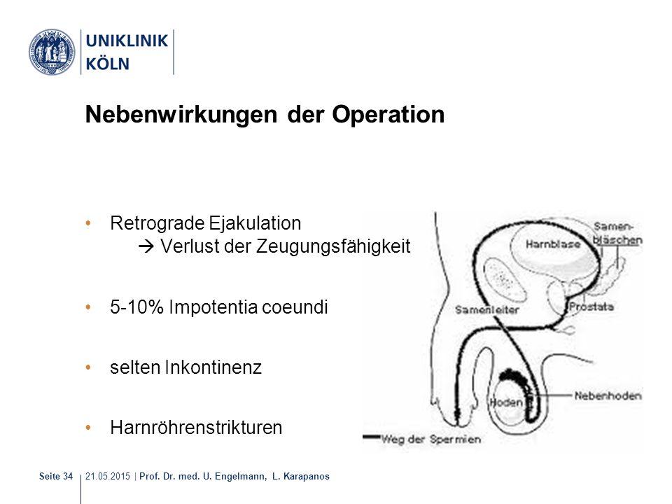 Nebenwirkungen der Operation