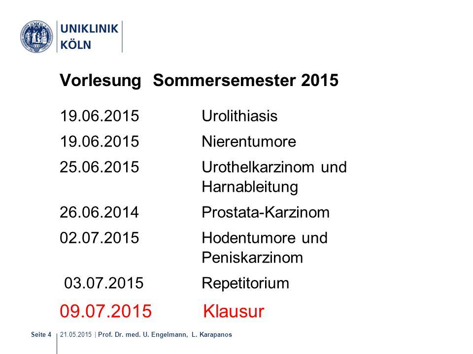Vorlesung Sommersemester 2015