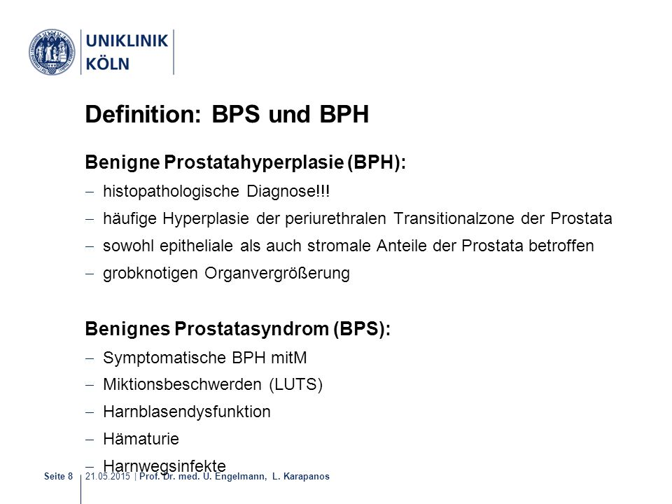 Definition: BPS und BPH