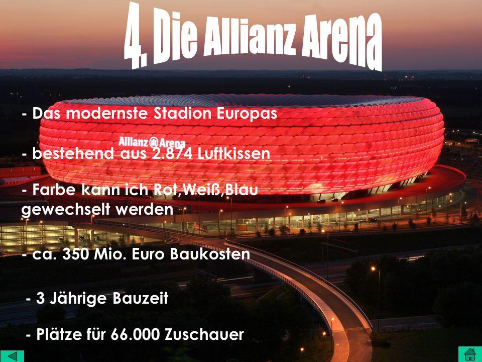 4. Die Allianz Arena - Das modernste Stadion Europas