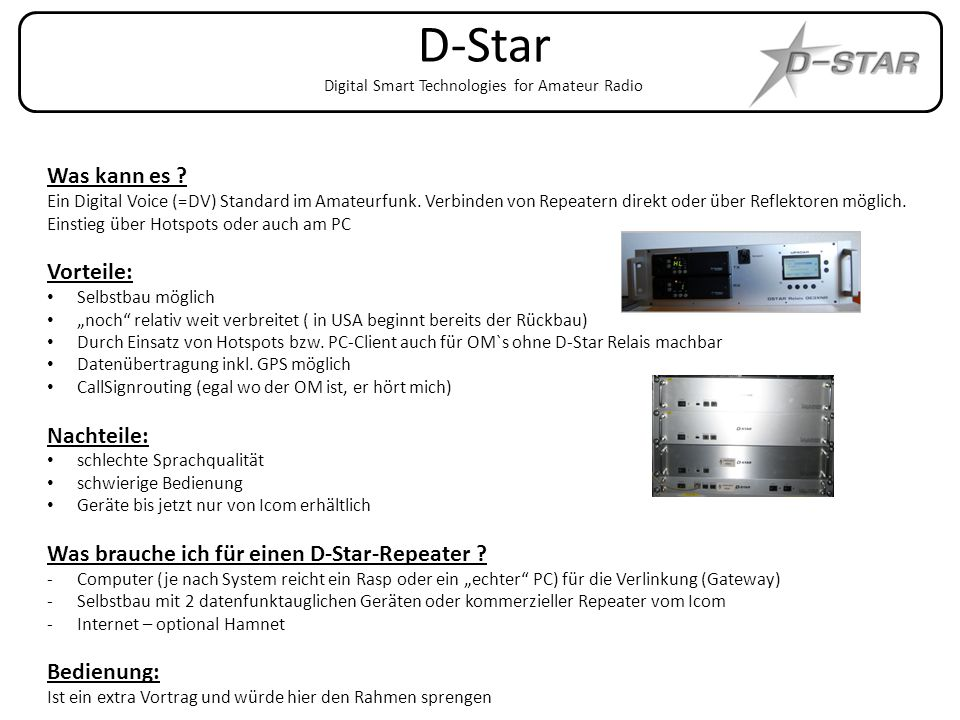 D-Star Digital Smart Technologies for Amateur Radio