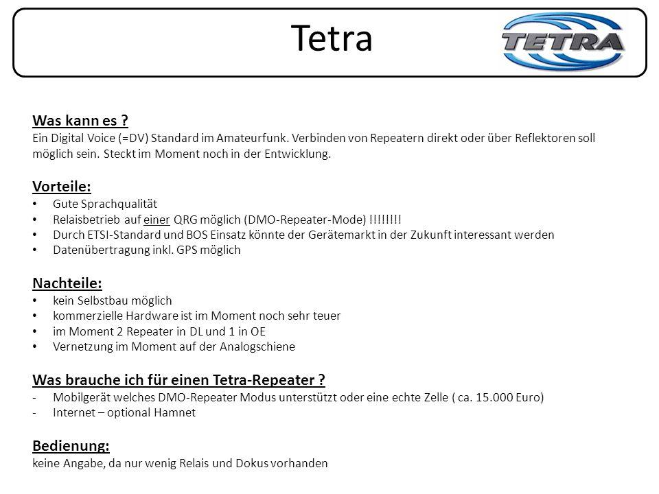Tetra Was kann es Vorteile: Nachteile: