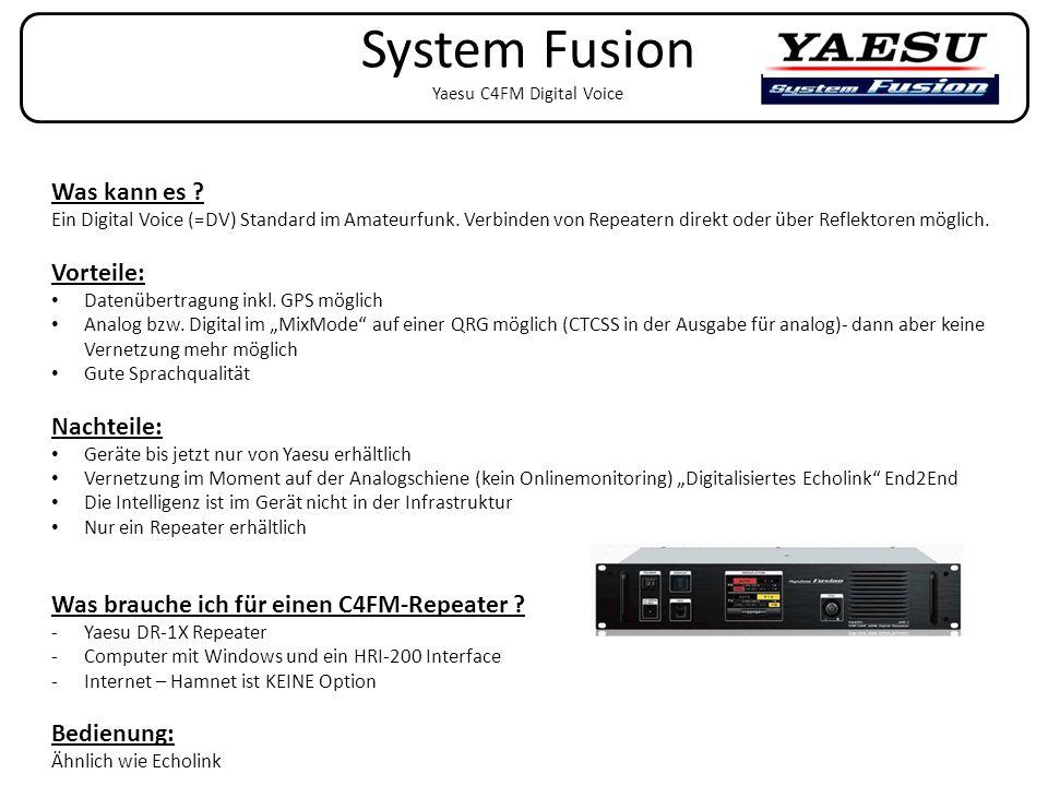 System Fusion Yaesu C4FM Digital Voice