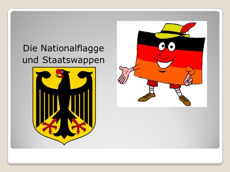 Die Nationalflagge und Staatswappen