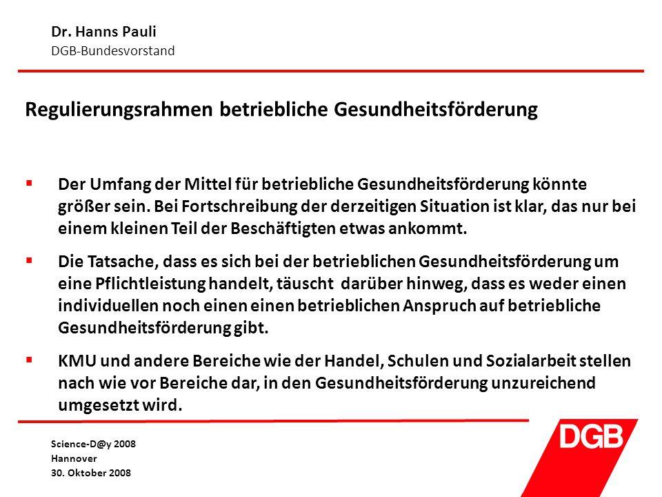 Dr. Hanns Pauli DGB-Bundesvorstand