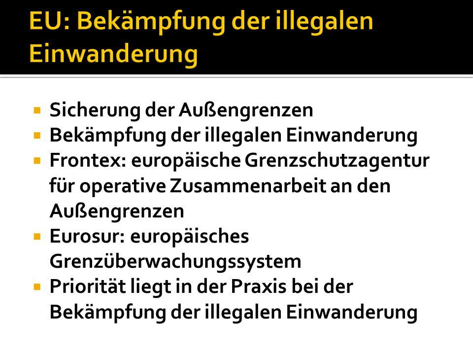 EU: Bekämpfung der illegalen Einwanderung