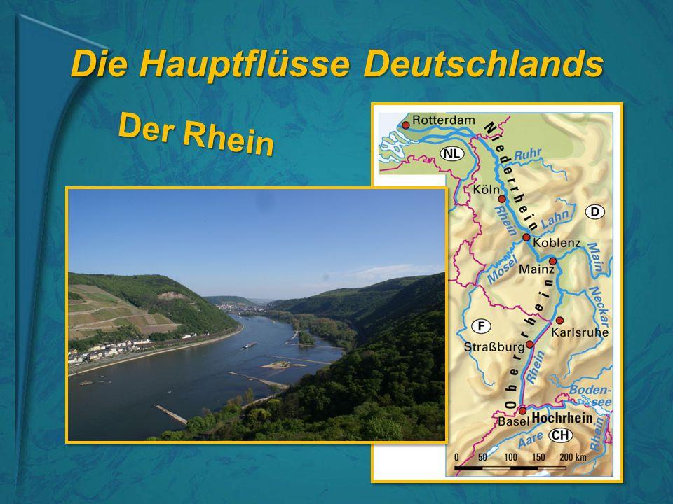 Die Hauptflüsse Deutschlands