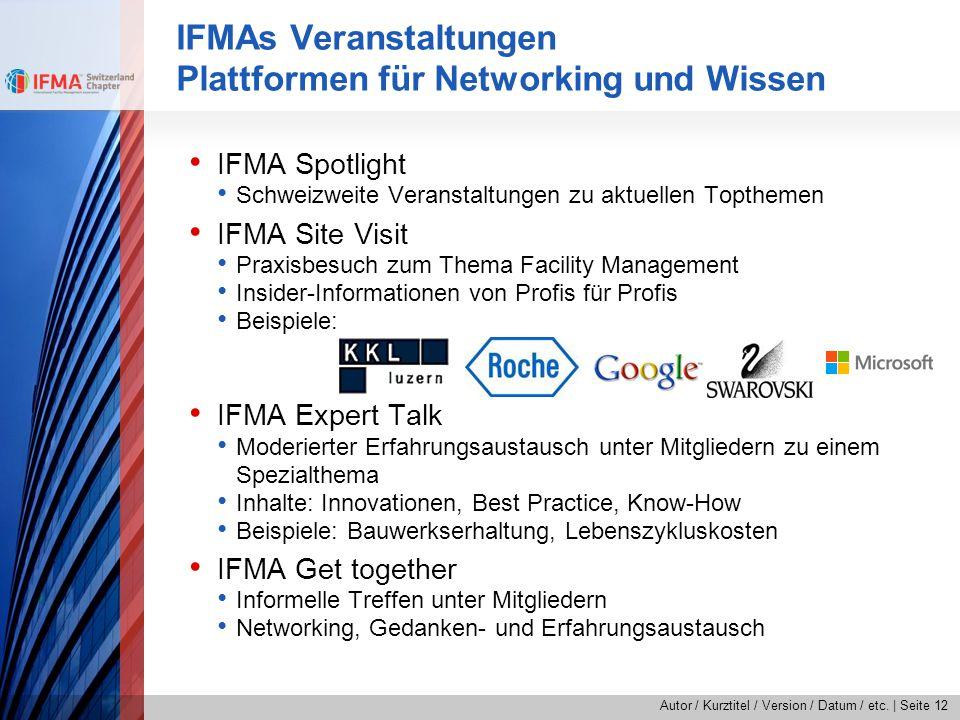 IFMAs Veranstaltungen Plattformen für Networking und Wissen