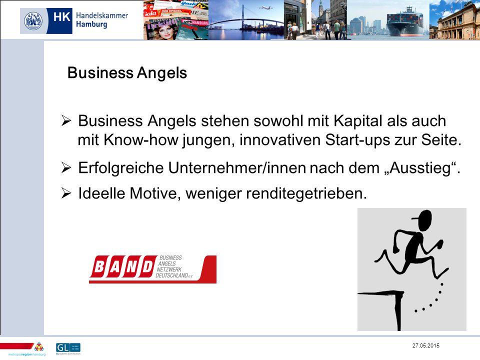 Business Angels stehen sowohl mit Kapital als auch