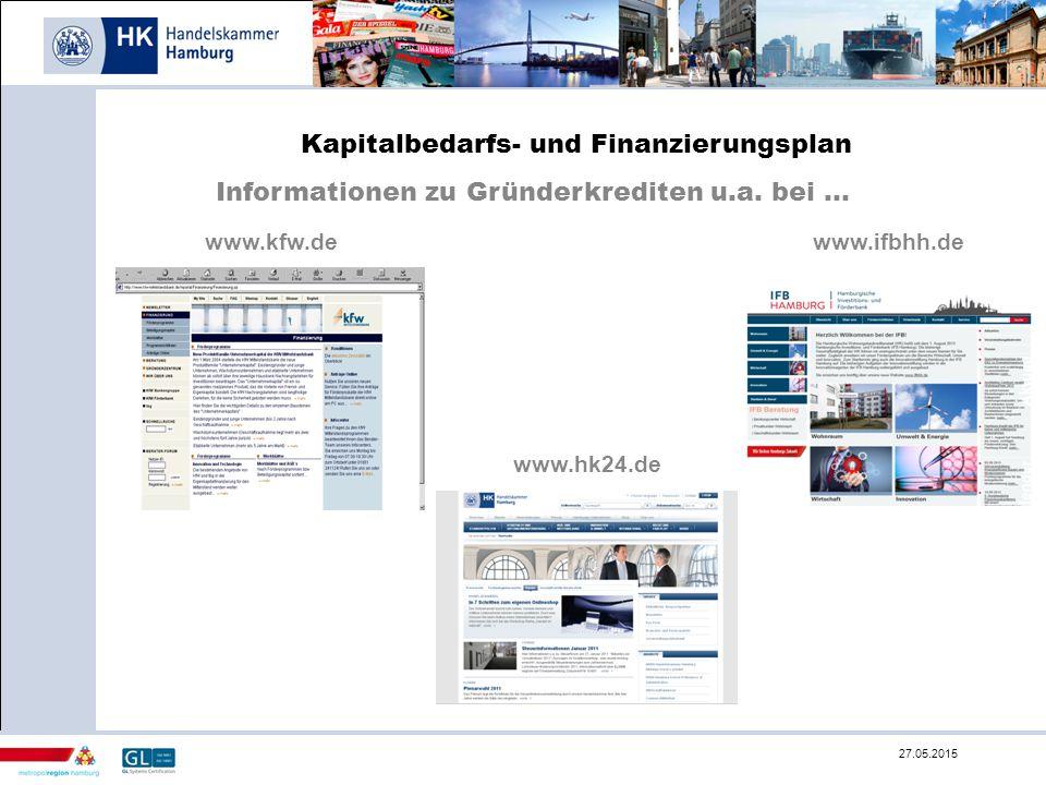 Kapitalbedarfs- und Finanzierungsplan