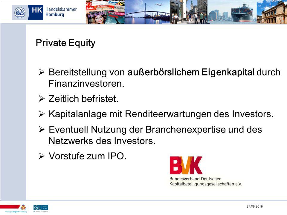 Bereitstellung von außerbörslichem Eigenkapital durch