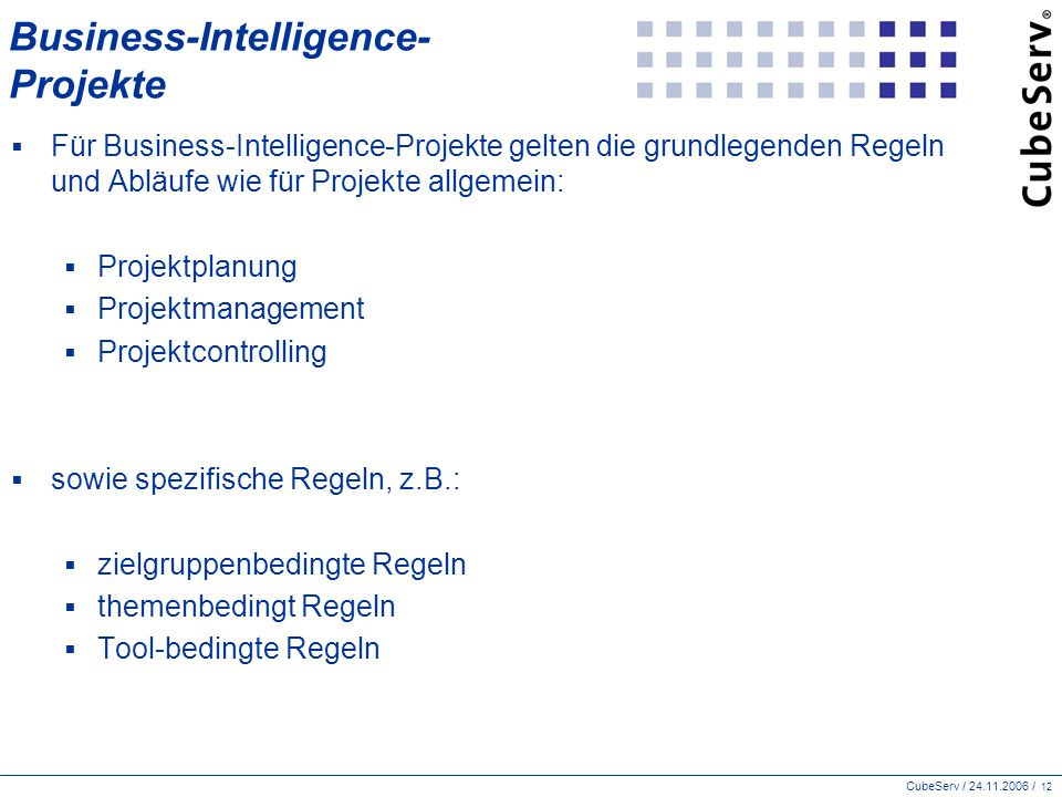Business-Intelligence- Projekte