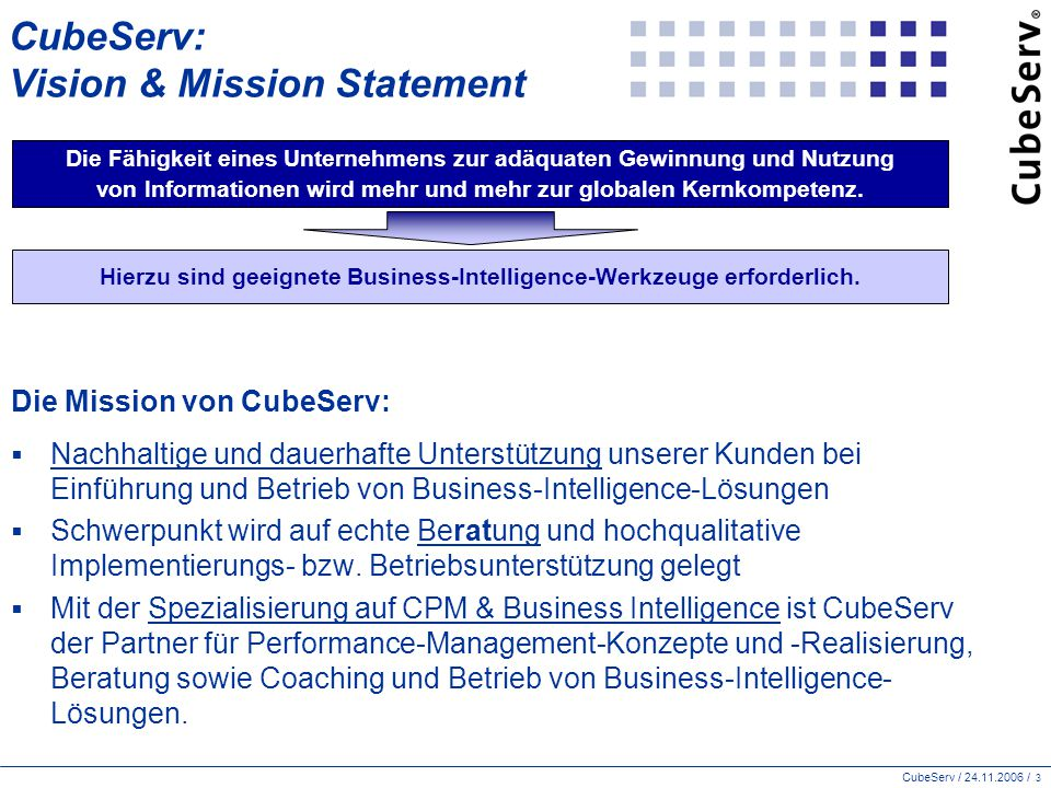 CubeServ: Vision & Mission Statement