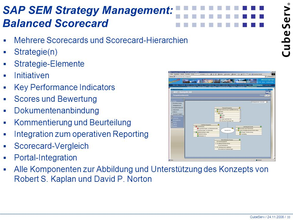 SAP SEM Strategy Management: Balanced Scorecard