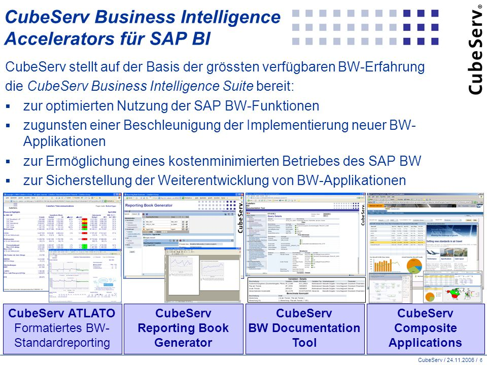 CubeServ Business Intelligence Accelerators für SAP BI
