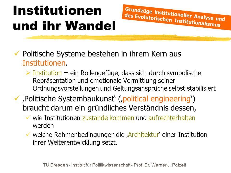 Institutionen und ihr Wandel