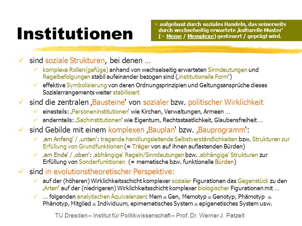 Institutionen sind soziale Strukturen, bei denen …