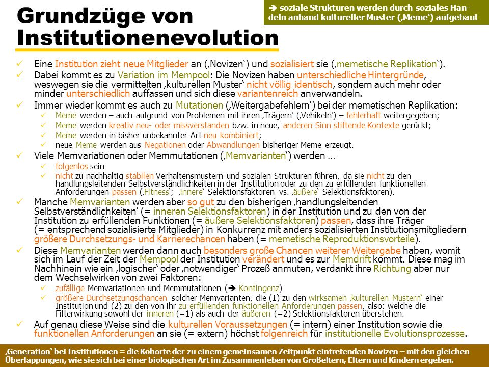 Grundzüge von Institutionenevolution