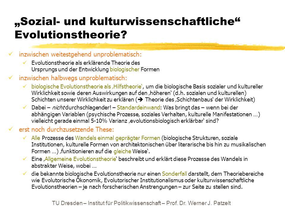"""""""Sozial- und kulturwissenschaftliche Evolutionstheorie"""