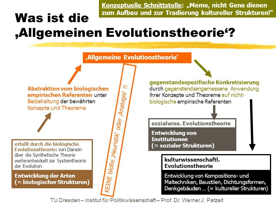 Was ist die 'Allgemeinen Evolutionstheorie'