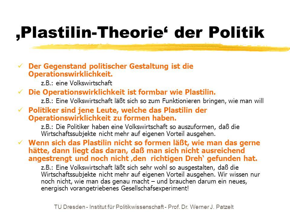 'Plastilin-Theorie' der Politik