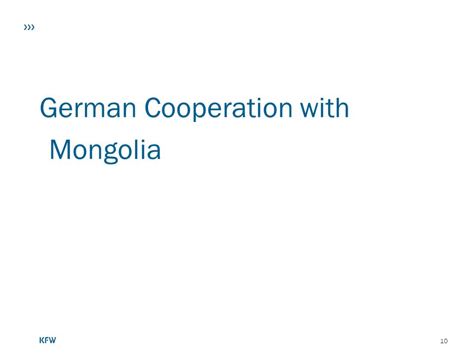 German Cooperation with Mongolia