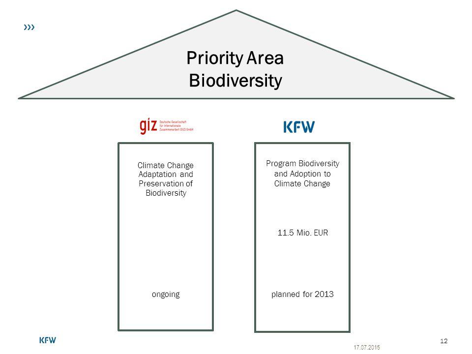 Priority Area Biodiversity