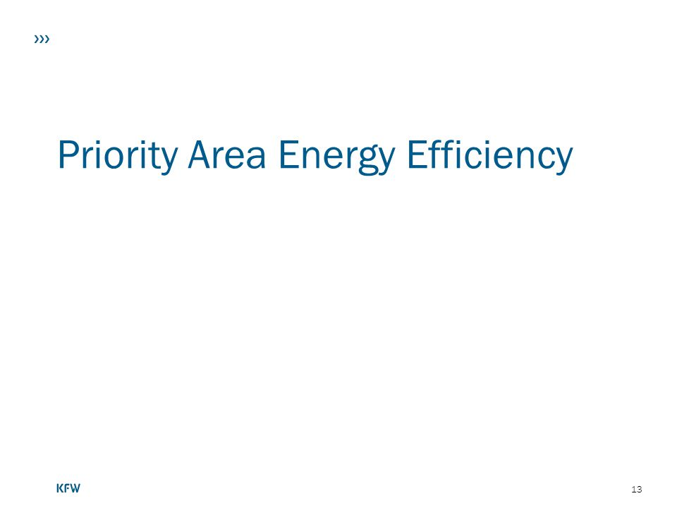 Priority Area Energy Efficiency