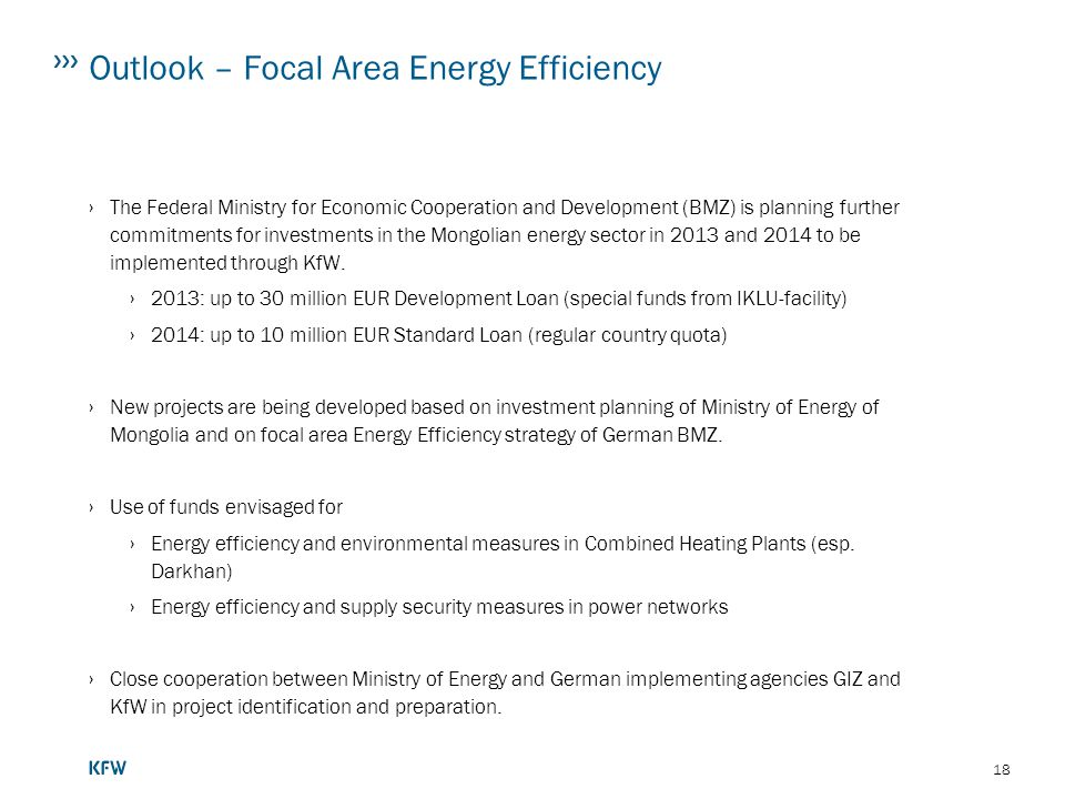 Outlook – Focal Area Energy Efficiency