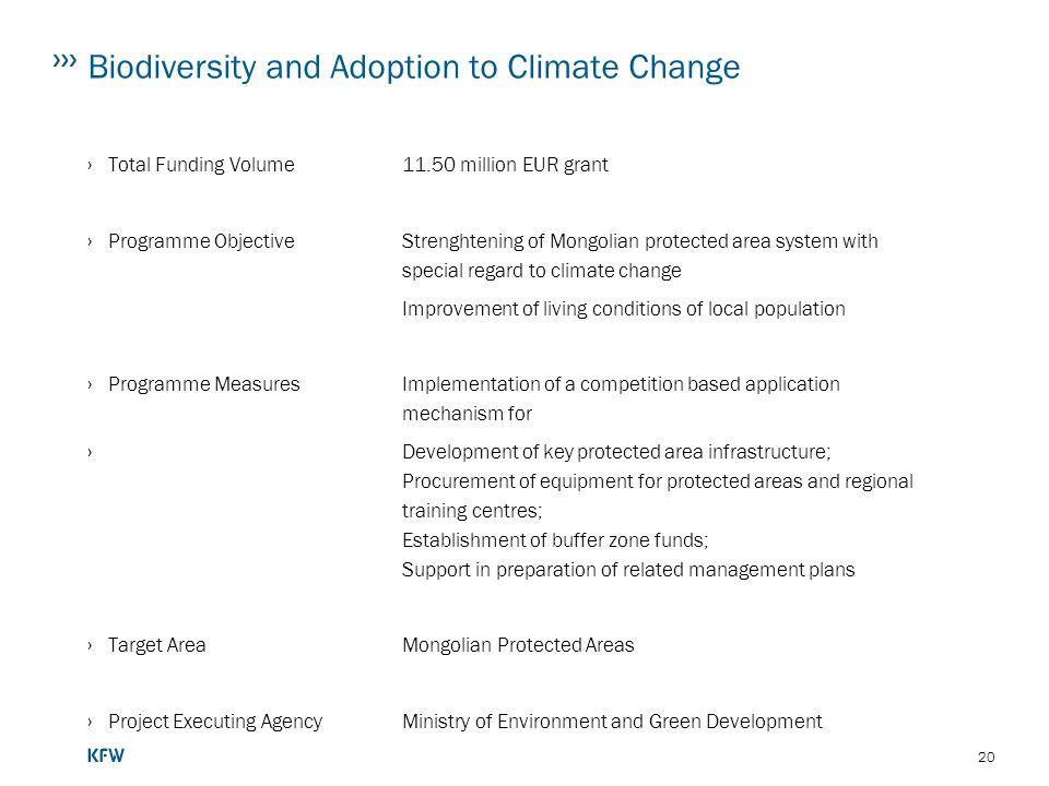 Biodiversity and Adoption to Climate Change