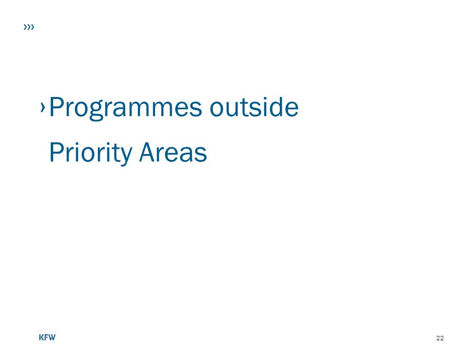 Programmes outside Priority Areas