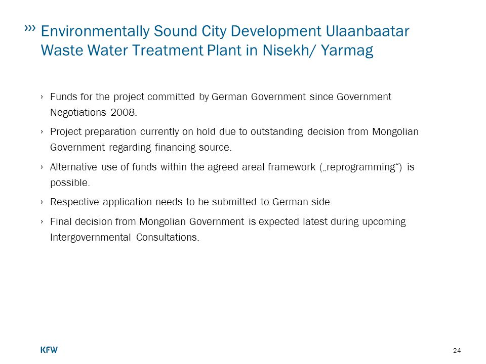 Environmentally Sound City Development Ulaanbaatar Waste Water Treatment Plant in Nisekh/ Yarmag