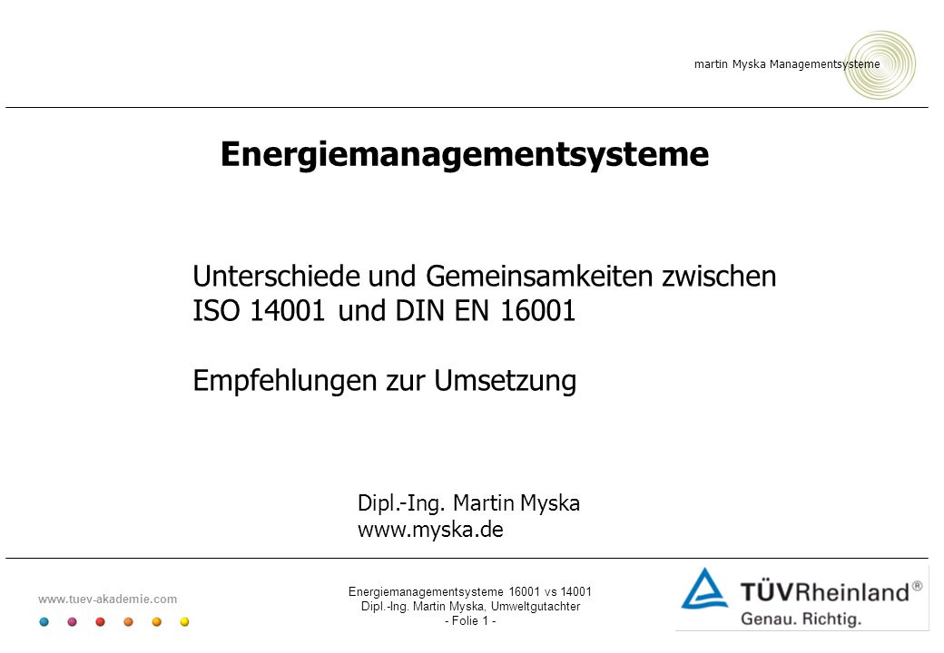 Energiemanagementsysteme