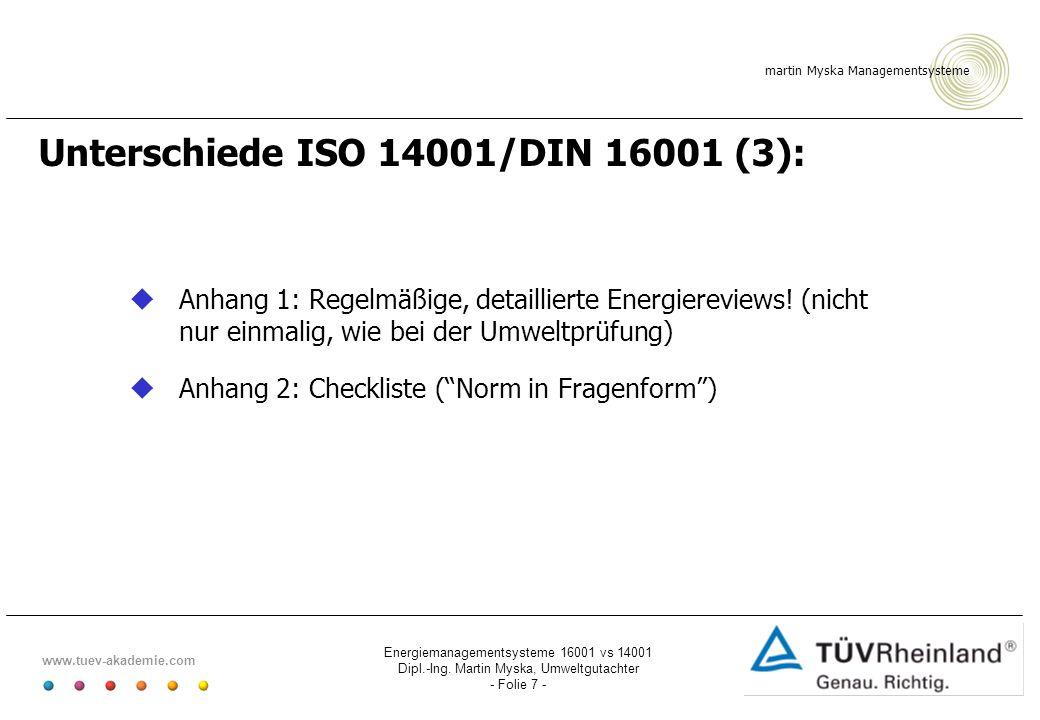 Unterschiede ISO 14001/DIN 16001 (3):
