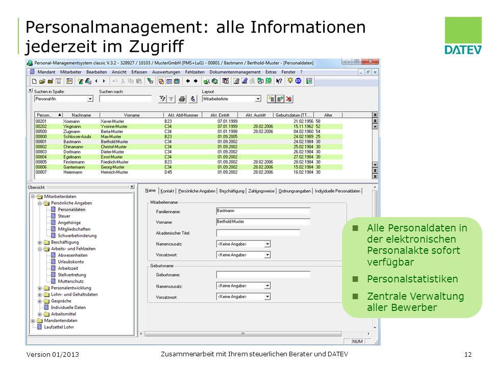 Personalmanagement: alle Informationen jederzeit im Zugriff
