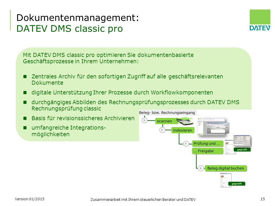 Dokumentenmanagement: DATEV DMS classic pro