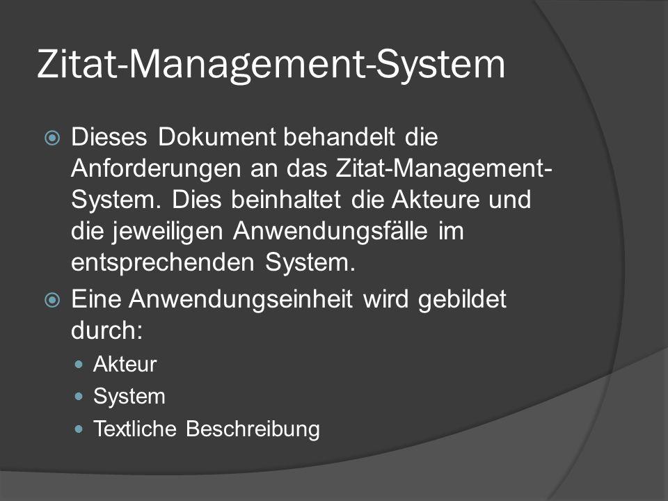 Zitat-Management-System