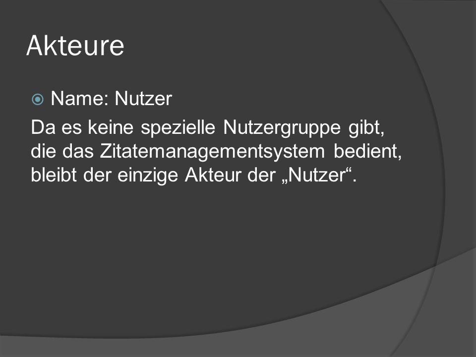 Akteure Name: Nutzer.