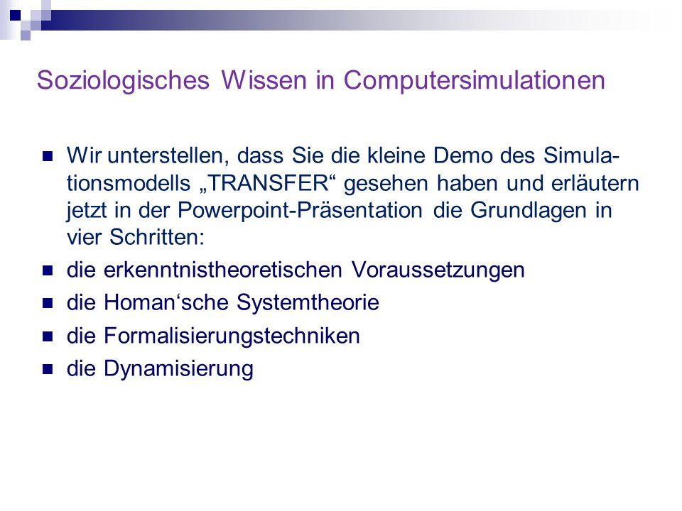 Soziologisches Wissen in Computersimulationen